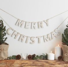 Add a rustic feel to your Christmas with this wooden Merry ...