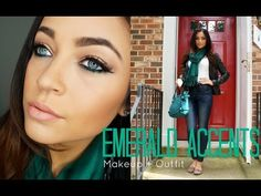 Get Ready With Me: Emerald Accents - YouTube  #makeup