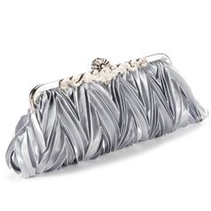Crystals kiss lock satin pleated evening wedding prom bridal clutch lady handbag Anladia http://www.amazon.com/dp/B00FQBE0AY/ref=cm_sw_r_pi_dp_29tmvb1GA1YDD
