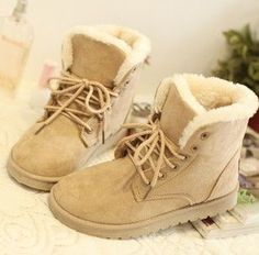 """22.05 euro incl shipping Flat heel waterproof  the new four -color fashion casual cute Korean fashion warm winter snow boots women's boots"" cutest shoes ever."
