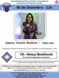 Associação Espírita Obreiros do Bem Convida para a Palestra Pública e Almoço Beneficente do Hospital Pedro de Alcântara - Laranjeiras - RJ - http://www.agendaespiritabrasil.com.br/2015/12/02/17659/