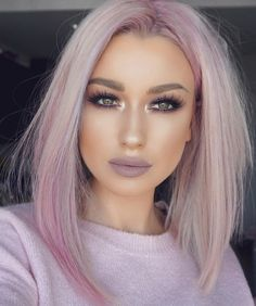 The pastel life chose me 🤷🏼‍♀️ Lips plum pencil and really me lipstick Lashes black magic Brows taupe dipbrow Hair Pastel Hair, Pink Hair, Medium Hair Styles, Curly Hair Styles, Grunge Hair, Love Hair, Hair Looks, Huda Beauty, Hair Trends