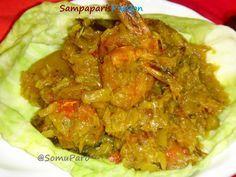 Sampaparis Passion: Bandhakopir Ghonto Chnigri Mach diey ( Cabbage with Prawns )...:)