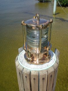 Bronze Piling Nautical Dock Light - Dock Lights