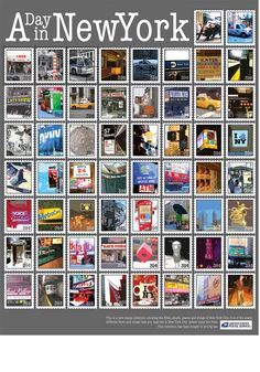 U.S. Postage Stamps - A Day In New York