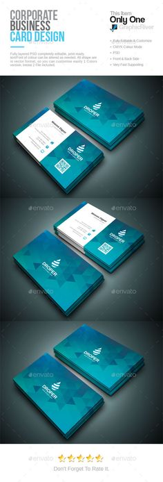 Creative Business Card - 4 Business cards, Corporate business - id card psd template