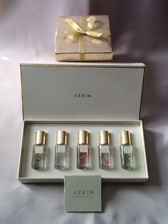Aerin Lauder EDP The Fragrance Collection 5pc Amber Jasmine Rose Iris Waterlily | eBay