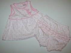 Dylan & Abby Baby Girl's Two-piece Shirt and Diaper Cover (6/9) Includes: Shirt and Diaper Cover. Light Pink. 100% Cotton. Machine Wash. Imported.  #Dylan_&_Abby #Apparel