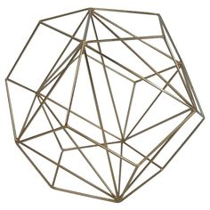 Make these gold and white DIY geometric sculptures using items from around your house. Get high end shelf accessories for WAY less!! Click for tutorial.