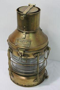 Antique Marine Ship Lantern Boat Light Anchor Lamp Cargo Ship Oil Kerosene Lamp.