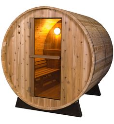 Barrel sauna is wonderful to enjoy dry and hot steam. Barrel shaped sauna is a popular addition to home both indoor and outdoor Outdoor Sauna Kits, Indoor Sauna, Jacuzzi, Design Sauna, Home Infrared Sauna, Sauna For Sale, Traditional Saunas, Traditional Design, Barrel Sauna