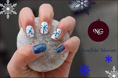 Getting Ready For Christmas - Snowflakes Manicure #gettingreadyforchristmas #nail #manicure #bbloggers #bbloggersro