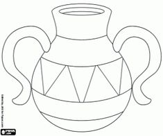 Container similar to an amphora coloring page
