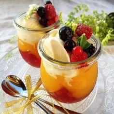 ひなうた's dish photo 巨峰とマンゴーのゼリー   http://snapdish.co #SnapDish #夏バテ&熱中症対策料理2016…