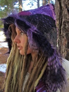 Purple Festival Scoodie Pixie hood Elf Hoodie    IntergalacticApparel  (Urban Pixie Attire FestiVal Clothing Eco-GypsY CoutuRe) @ etsy