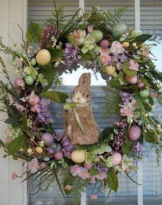 DIY Easter Decorations ideas are amazing. Get best Easter decor ideas & easy Easter decorating tips here, including Easter decorations for home & Easter DIY Diy Wreath, Door Wreaths, Grapevine Wreath, Easter Bunny, Easter Eggs, Bunny Bunny, Easter Table, Diy Osterschmuck, Easy Diy