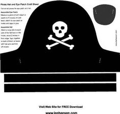 1000 images about pirate on pinterest pirate hats hope for Diy pirate hat template