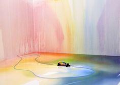 Liquid Rainbow sprinkler by Edwin Deen
