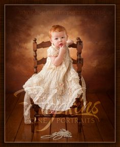 Ava's one year old portraits, by Hopkins Fine Portraits.