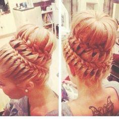 Trenzas + Recogido // #trenzas #hair #hairstyle