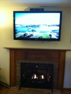 Side Table Feeds 55 Tv With Dvr Cable Box Xbox Game System And Dvd Surround Sound Mounted