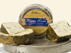 Rogue River Blue Cheese   blue cheese wrapped in grape leaves that have been macerated in pear brandy