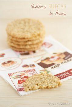 Galletas suecas de avena Coconut Cookies, Yummy Cookies, Cupcake Cookies, Cupcakes, Swedish Recipes, Sweet Recipes, Cookie Recipes, Dessert Recipes, Bread Machine Recipes