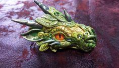 Green DragonHead Pendant by AstridMakosla.deviantart.com on @deviantART