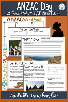 This day is a huge part of our Australian and New Zealand shared history. Writing Strategies, Writing Resources, Teaching Activities, Teaching Writing, Anzac Cove, Anzac Day, Australia Day, Learning Centers, Things To Think About