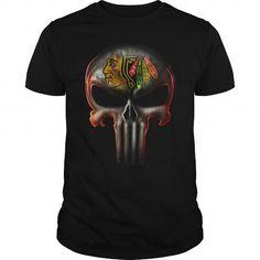 Awesome Tee tng-sport punisher-hockey-Chicago Blackhawks T shirts