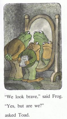 """Frog Discover Frog and Toad Are Friends - Arnold Lobel - Hardcover """"We look brave"""" said Frog."""" asked Toad. Arnold Lobel, Frog Art, Arte Disney, Cute Frogs, Frog And Toad, Vintage Glam, Wall Collage, Cute Art, Art Inspo"""