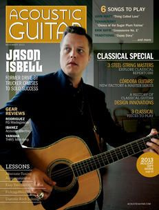Acoustic Guitar magazine, issue no. 251, featuring Jason Isbell on the cover.