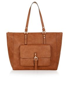 Elliot Large Pocket Shoulder Bag | Brown | Accessorize