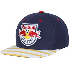 bcc5978073b New York Red Bulls Mitchell   Ness Diamond Adjustable Snapback Hat - Navy. MLS  Caps   Hats