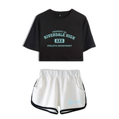 Women Two Piece Outfits Riverdale Southside Serpents 2 Piece Set Crop Top and Short Pants Tracksuit For Women Sets Clothes Riverdale Merch, Riverdale Funny, Crop Top Und Shorts, Harry Styles Merch, Riverdale Fashion, Suits For Women, Clothes For Women, Two Piece Outfit, Cropped Hoodie