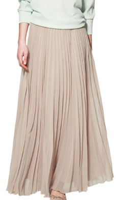 Women's tan/golden maxi skirt XL (China size)