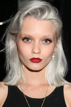 Silver hair - young face
