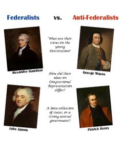Federalists, Anti-Federalists and the new Constitution! Students examine primary source documents to understand the two viewpoints when the Constitution was about to be ratified!