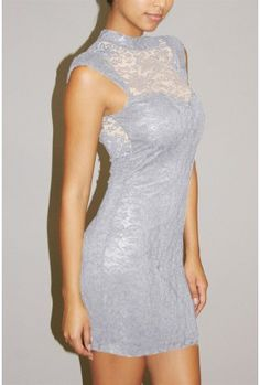 The Milan Lace Neck Dress $29.00