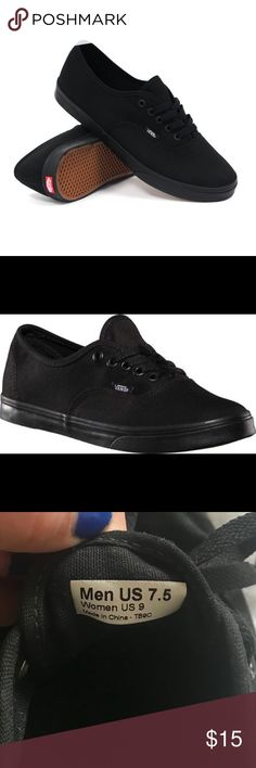 163185c2da27bb Vans Black l Lo Pro Sneaker Woman s 9 Men s 7.5 Gently used. Woman s size 9