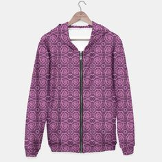 """""""Pink helices"""" pattern in pink & purple Hoodie, Live Heroes #pink, #purple, #helices, #pattern, #dots, #abstract, #lace, #lines, #spirals, #curves,#handdrawn, #stylized,  #arabesque, #hoodie"""