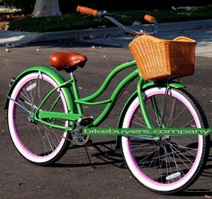 This is the bike I really really want!  It's even got the cute basket!