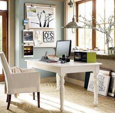 Contemporary desk all in white