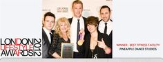 Pineapple Dance Studios won Best Fitness Facility of the Year at the London Lifestyle Awards 2012.