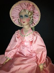 DOLL SHOW-OLD SILK FACE FRENCH BOUDOIR DOLL 1920 - No. 1