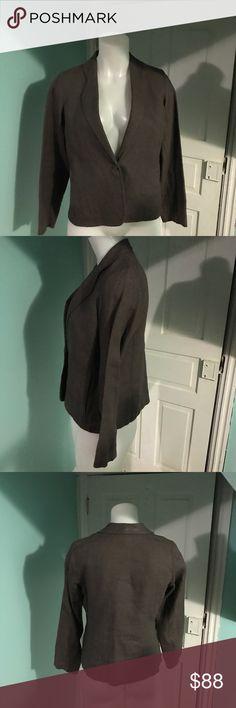 2pcs Eileen Fisher 100%Irish Linen Pant Set szPS 2pcs Eileen Fisher 100%Irish Linen Pant Set szPS. Excellent condition Eileen Fisher Jackets & Coats Blazers