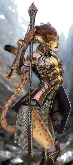 Cheetah Warrior by nebezial from deviantart.com