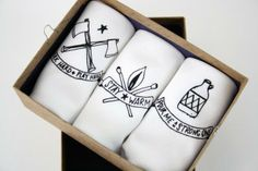 Purchase Handkerchiefs set of 3 Mens Hankies with Axe, Moonshine and Matches prints from Urban Bird and Co. Share and compare all Accessories. Unique Christmas Gifts, Unique Gifts, Bourbon And Boots, Presents For Men, Fathers Day Gifts, Man Gifts, Stay Warm, Groomsmen, Special Gifts