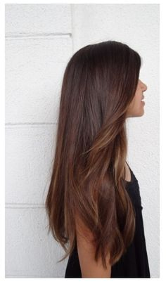 Long dark brown hair