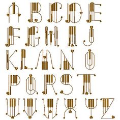 Piano Alphabet Fonts embroidery font - Grand Slam Desighs